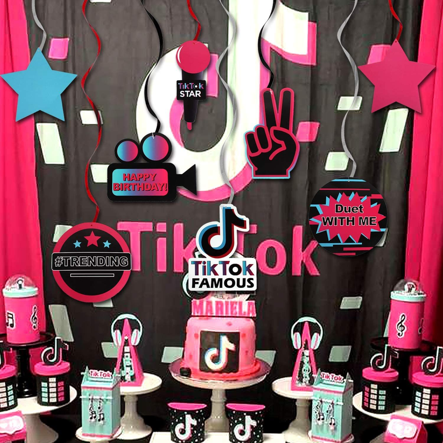 Tik Tok Party Decorations Tik Tok Party Ideas Music Birthday Party Gift Deco Sign In 2021 Music Birthday Party Happy Birthday Parties Birthday Party Gift