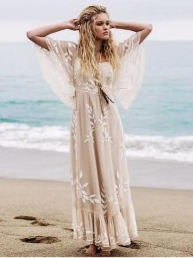 Bohemian Boho Evening Dress