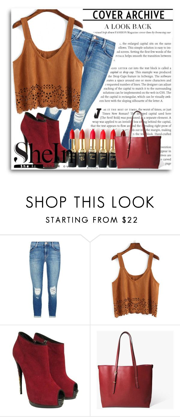 """""""Shein Contest"""" by emina-393 ❤ liked on Polyvore featuring J Brand, L'Oréal Paris and Giuseppe Zanotti"""