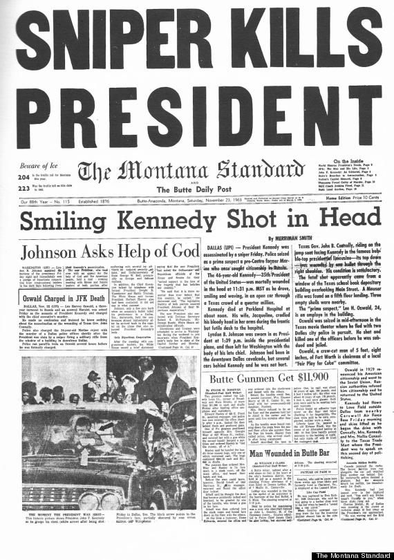 What Newspapers Looked Like The Day Kennedy Was Shot Jfk