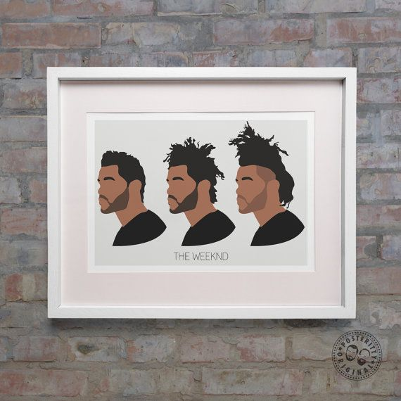 THE WEEKND Hair Evolution Minimalist Poster Silhouette  Minimal Wall Abel XO