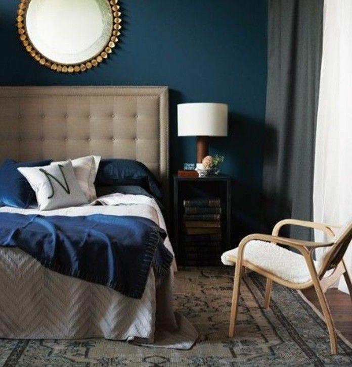 ▷1001+ idées pour une chambre bleu canard, pétrole et paon sublime - chambre bleu gris blanc