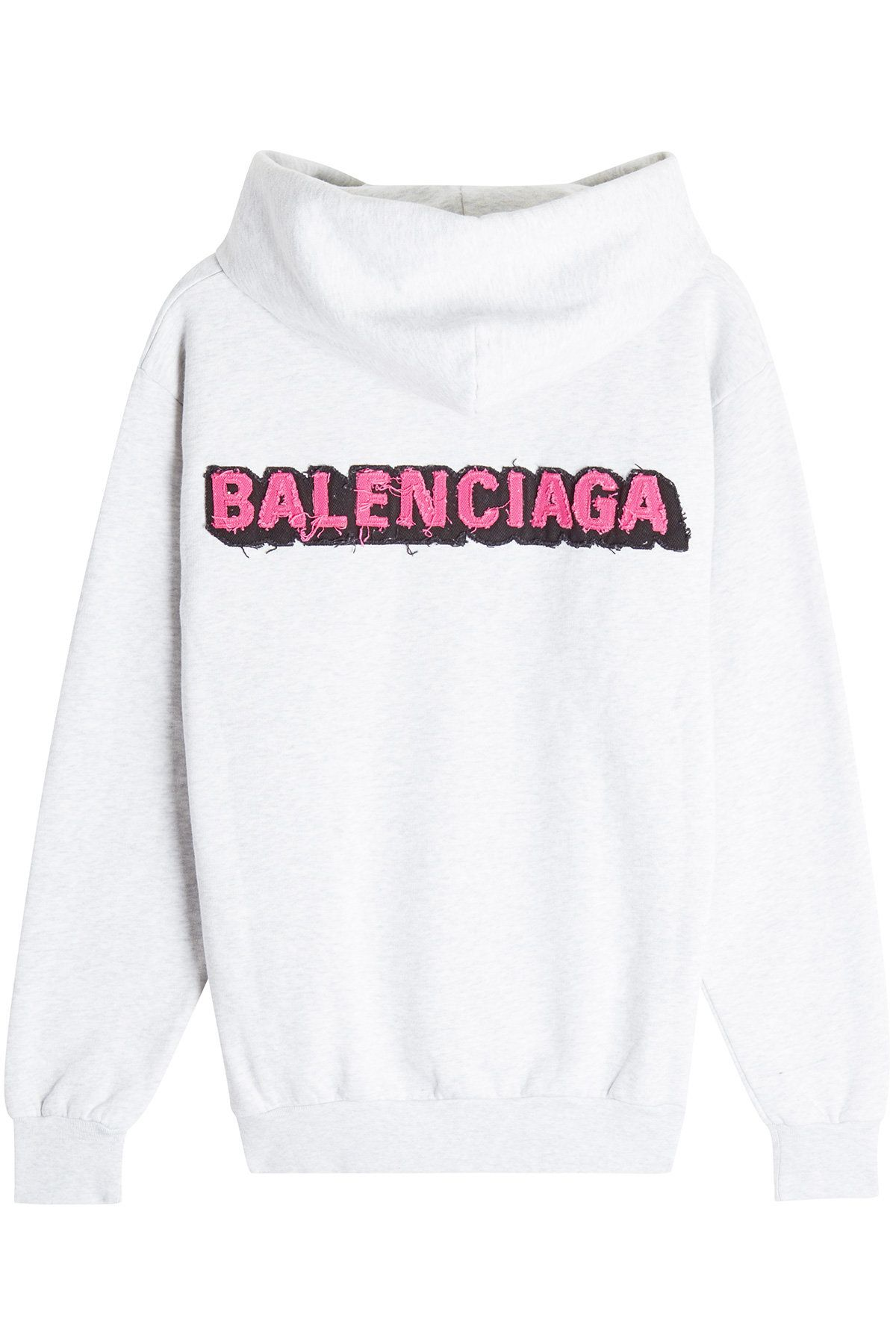 Balenciaga Cotton Hoody With Applique Logo [ 1800 x 1200 Pixel ]