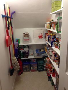 Under Stairs Coat Closet Turned Pantry Closets Pinterest