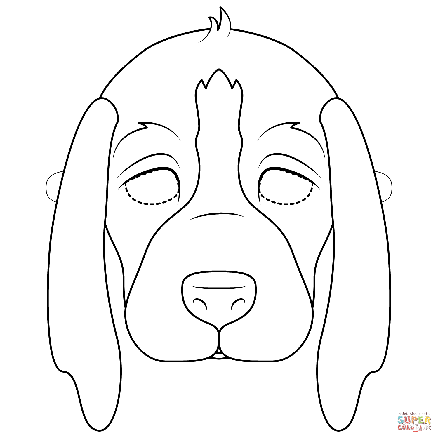 Puppy Mask Coloring Page Free Printable Coloring Pages Puppy Coloring Pages Dog Coloring Page Dog Coloring Book