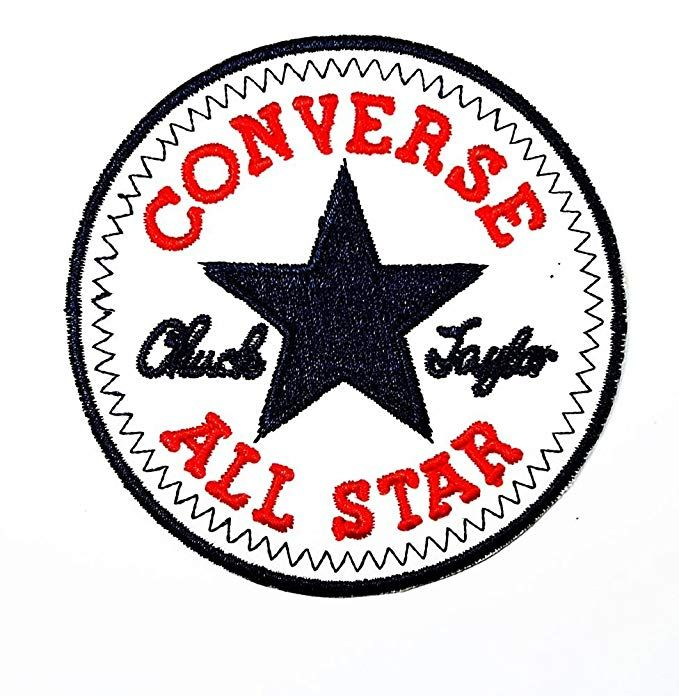 CONVERSE ALL STAR Funny patch Embroidered Iron on Hat Jacket Hoodie  Backpack Ideal for Gift  7.3cm(w) X 7.3cm(h) df3f2ebd869