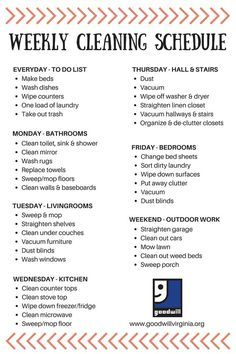 Cleaning Schedule Made Simple  Cleaning Schedules Home And Simple
