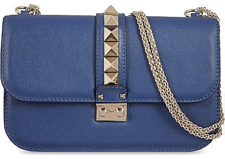 Valentino Stud lock medium shoulder bag on shopstyle.com ... f428bfb6e09b9