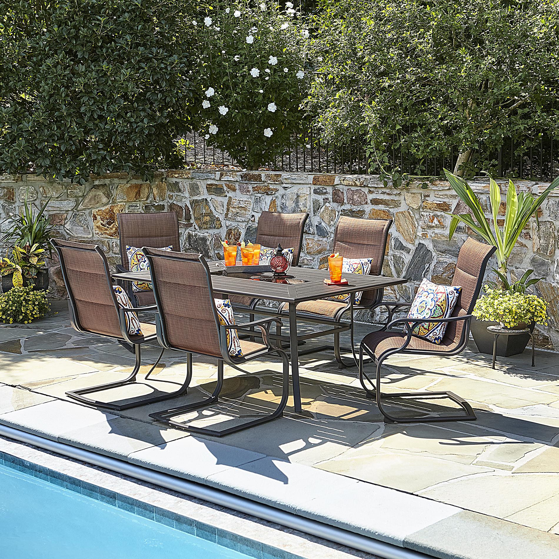 40++ Sutton rowe riverton 7 pc slat top outdoor dining set Trend