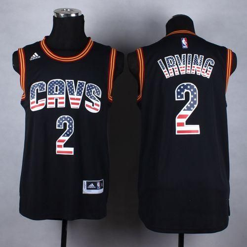 38e7c39def0 ... order 23.88 at maryjersey maryjerseyelwaygmail 2 kyrie irving 23 lebron  james cavaliers black usa flag fashion