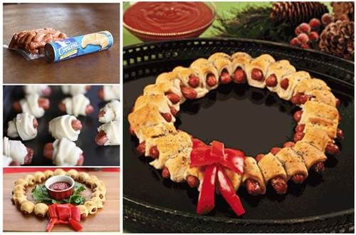 Creative Ideas - DIY Mini Sausage Wreath | iCreativeIdeas.com