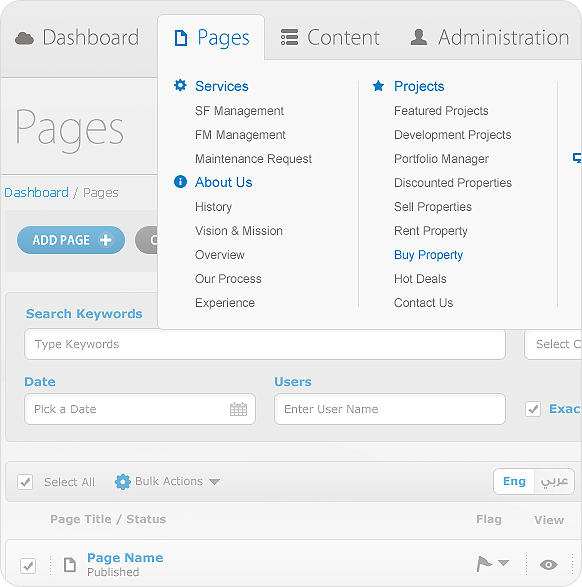 Content Management System Cms Admin Panel On Behance Content Management System Interface Design User Interface