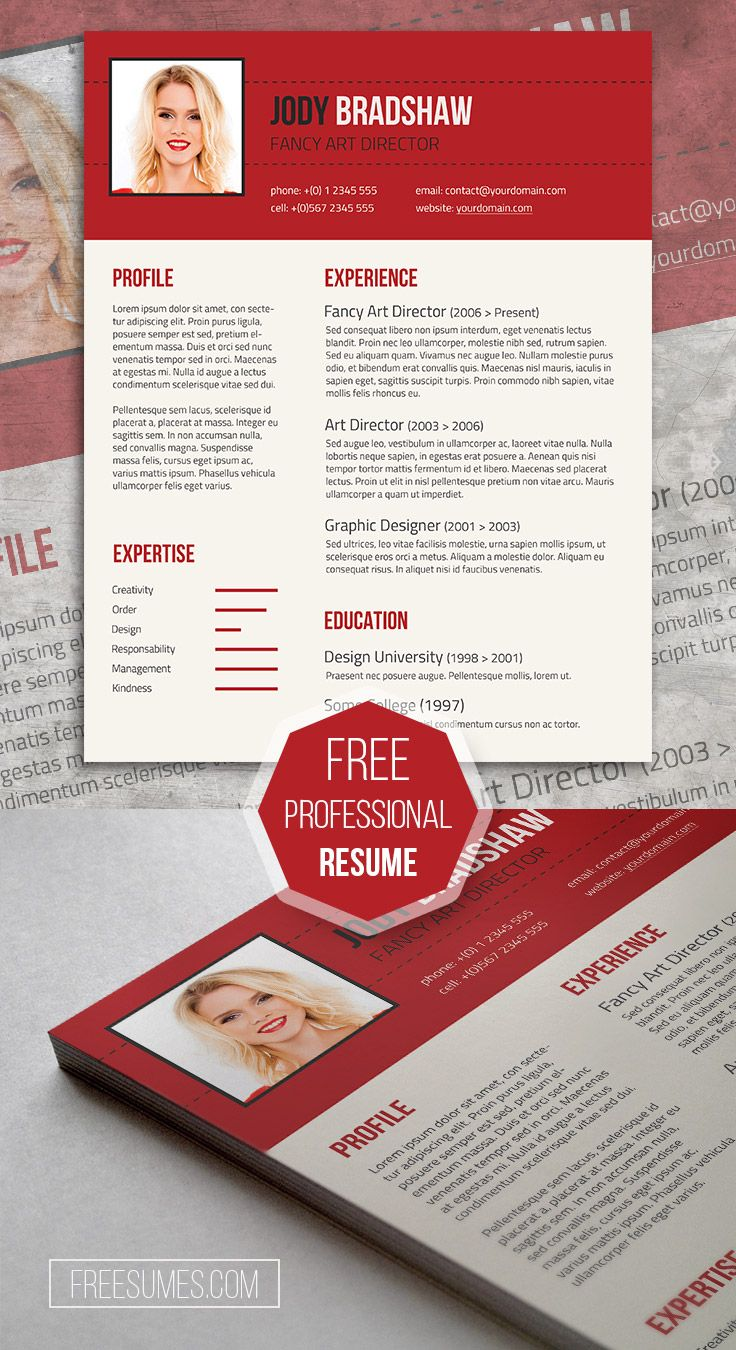 Fancy Resume Template For Free | Rubicund Headliner  Fancy Resume