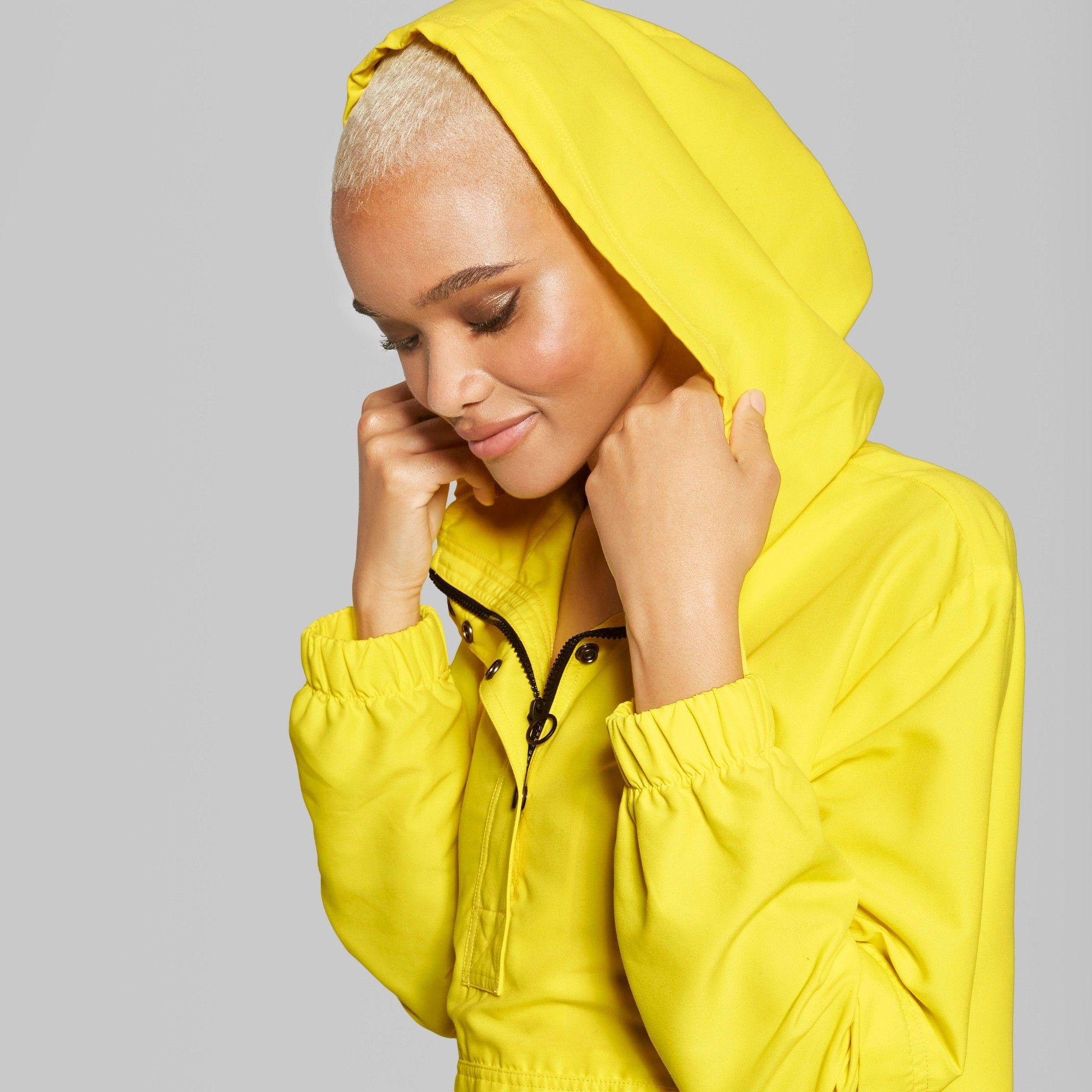 Women S Button Front Windbreaker Jacket Wild Fable Yellow S Windbreaker Windbreaker Jacket Jackets [ 2000 x 2000 Pixel ]