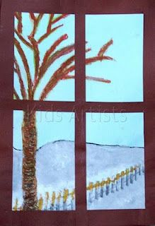 kids artists winter through my window you art to be in pictures rh pinterest ca