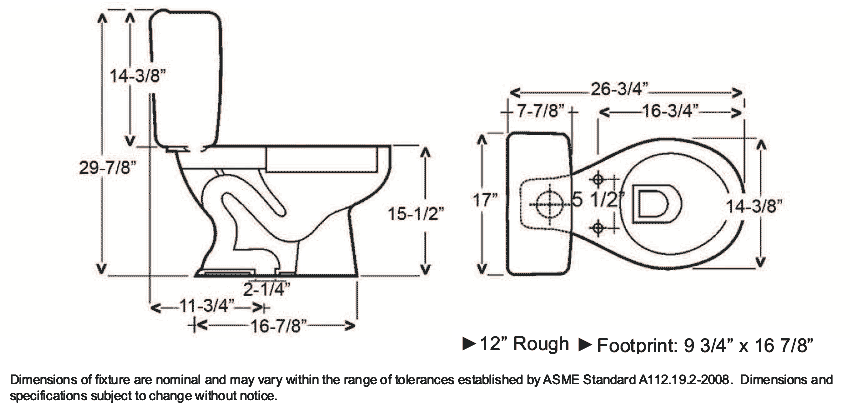 Toilet dimensions google search dimensions pinterest for Bathroom dimensions