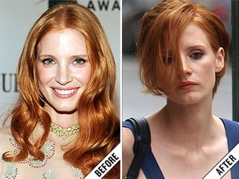 Jessica Chastain Hair Cut | new short haircut stylefrizz did jessica chastain cut her