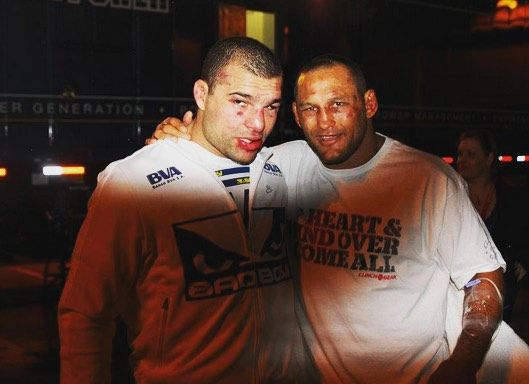 Mma History Today On Instagram Dan Henderson Shogun Rua After Their War At Ufc 139 Two Warriors From An Era That Embodie Ufc Dan Henderson Ufc Fighters