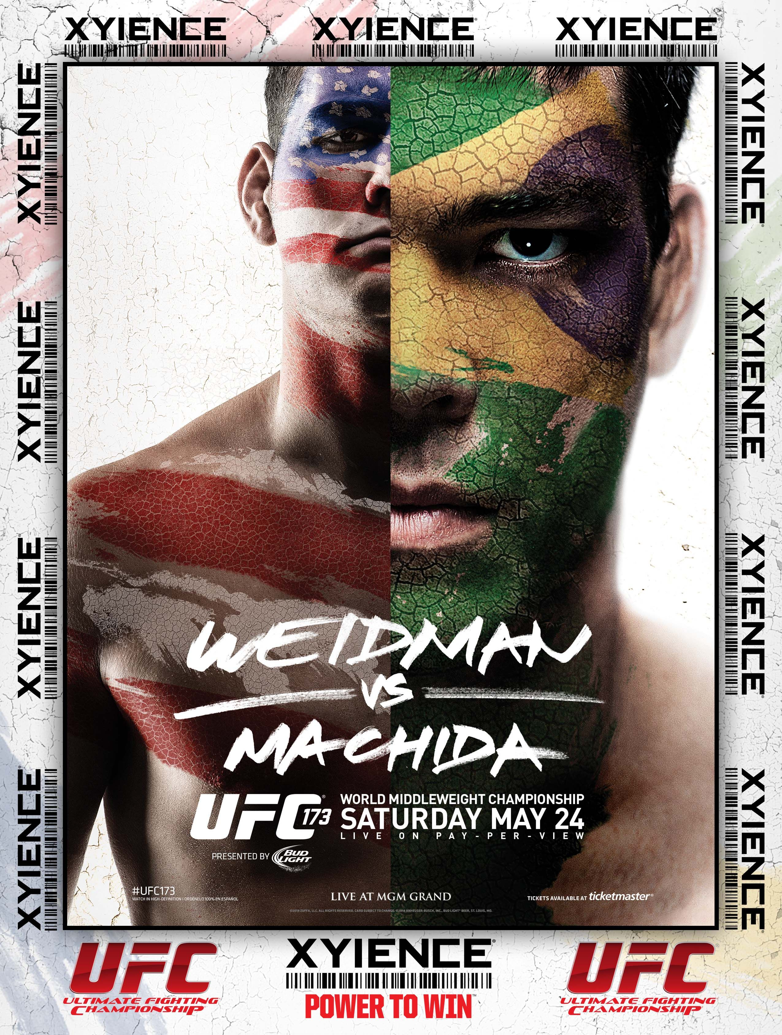 Ufc 173 Weidman Vs Machida Saturday May 24th Live On Pay Per View From The Mgm Grand Garden Arena In Las Vegas Nevada With Images Machida Ufc Weidman