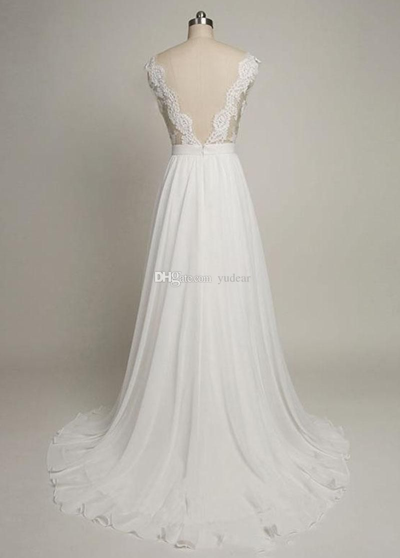 A line cap sleeve wedding dress   Sexy Scoop Women Wedding Dresses Aline Cap Sleeves Bridal
