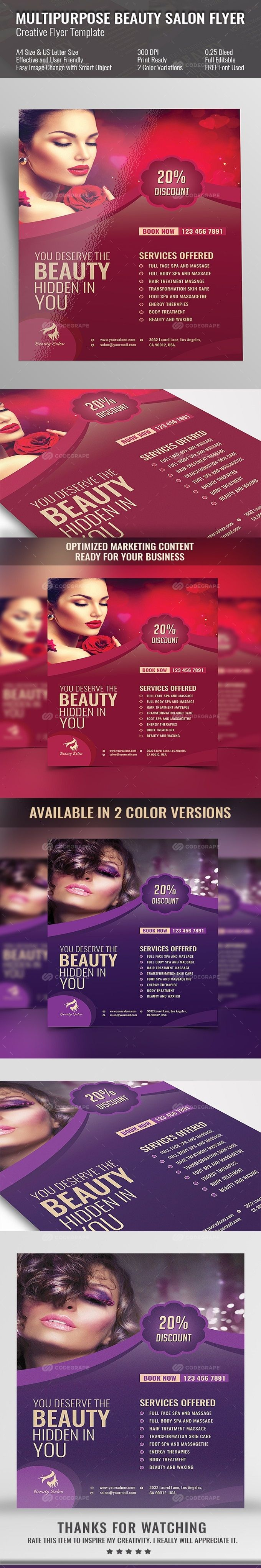 Spa And Beauty Salon Flyer On Codegrape More Info HttpsWww
