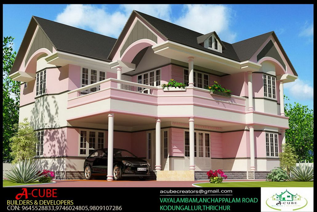 fascinating Style House 3d Exterior Design From