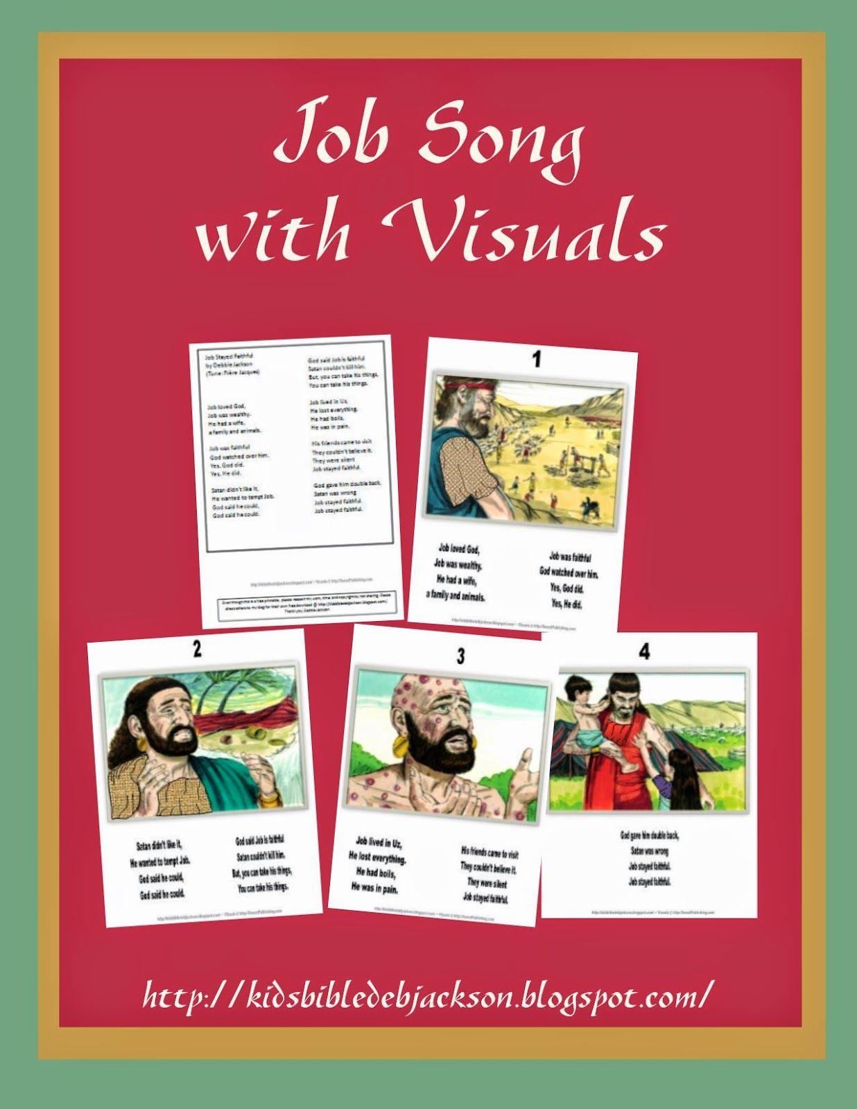 Job Song Preschool bible lessons, Job bible, Bible