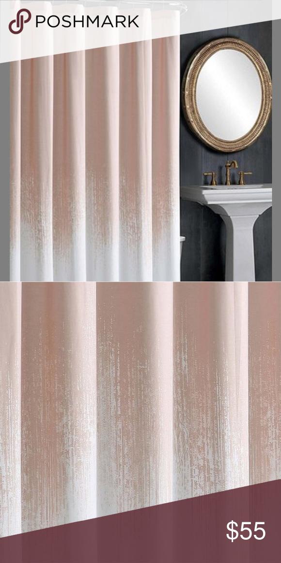Blush Pink White Lyon Shower Curtain Shower Curtain Curtains