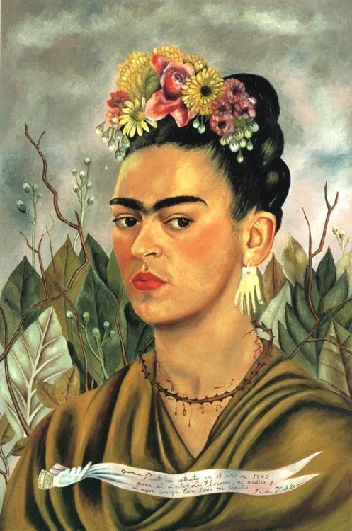 Self Portrait By Frida Kahlo Flores Azuis Arte Plastico Frida