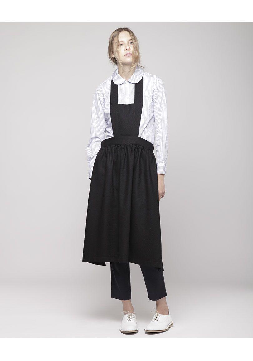 comme des gar ons shirt apron dress shop at la gar onne close clothes pinterest apron. Black Bedroom Furniture Sets. Home Design Ideas