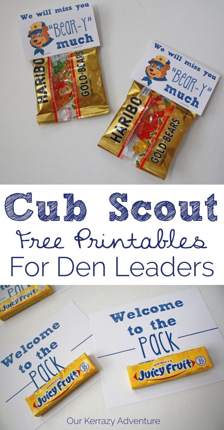 Free Cub Scout Printable - Our Kerrazy Adventure