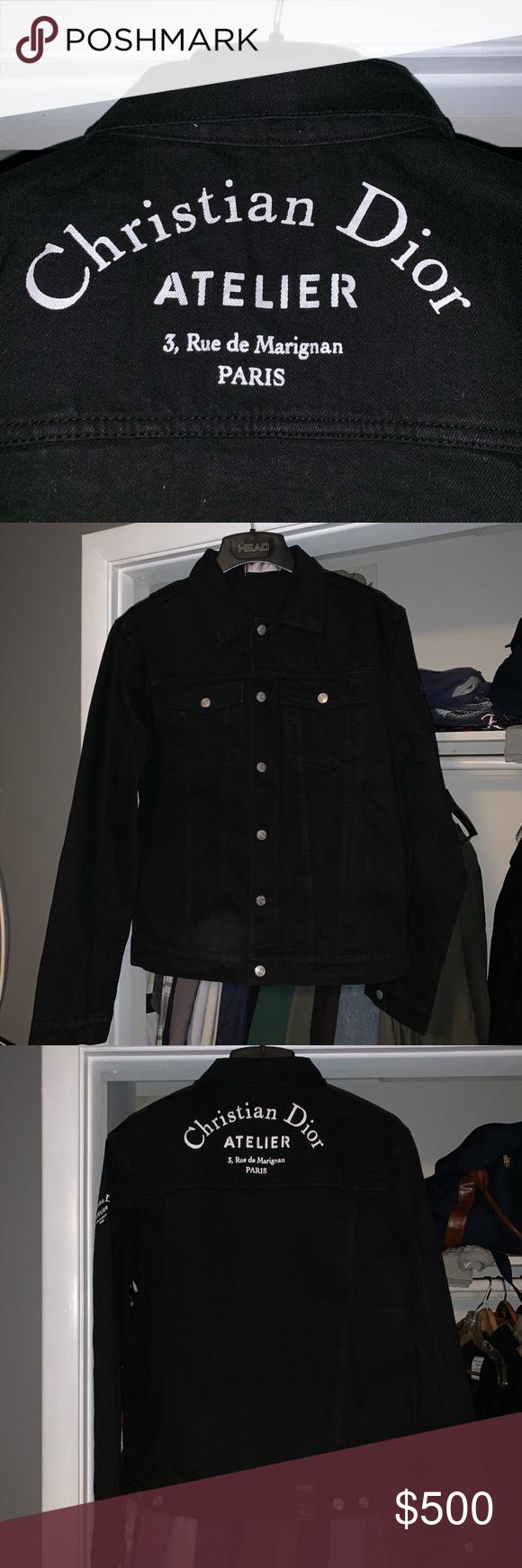 Dior Atelier Denim Jacket Denim Jacket Dior Atelier Clothes Design [ 1740 x 580 Pixel ]