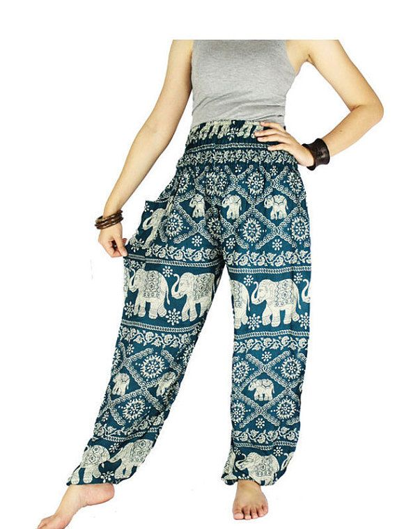 Elephant pants Harem pants Hippie pants Bangkok Pants Fits for 0-14 US  Size. Gypsy PantsHippie PantsThai ...