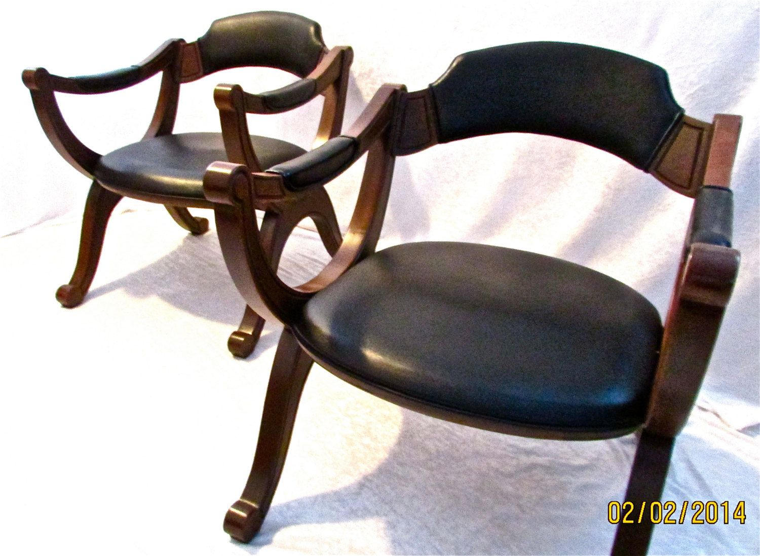 2 Vintage Drexel Esperanto Leather Chair\'s with Mereno Finish and ...