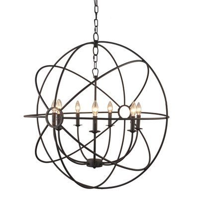 Yosemite Home Decor Constance 7 Light Candle-Style Chandelier Finish: Rustic Black