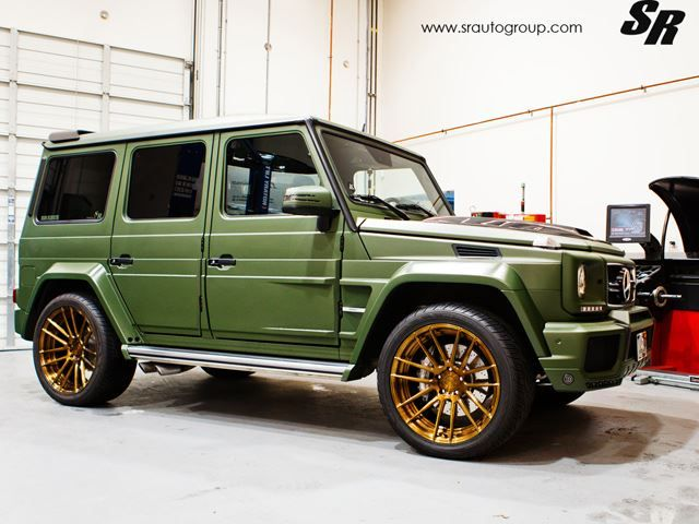 brabus mercedes benz g63 amg wears military green and adv1s cars rh pinterest com