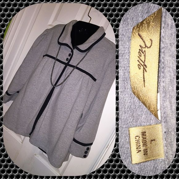 Light Jacket~ Box12 Cute sweatshirt type jacket. Great condition. Motto Jackets & Coats