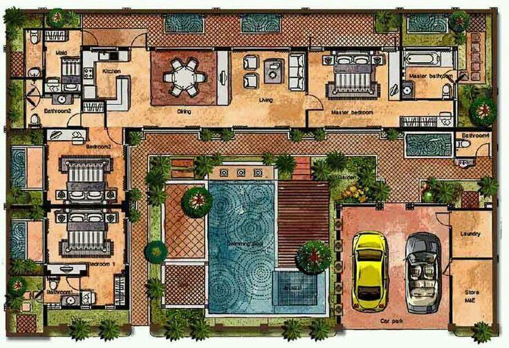 Pin Oleh Pukky Chia Di House Plans Denah Rumah Arsitektur Desain Rumah