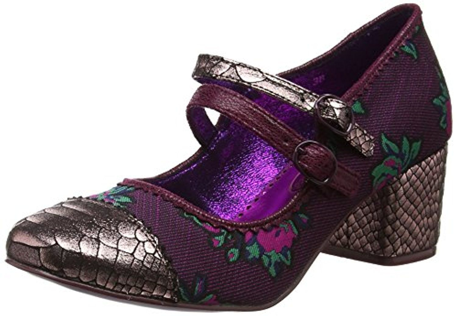 Poetic Licence by Irregular Choice Mini Mod, Mary Janes Femme, Rose (Pink/Black I), 41 EU