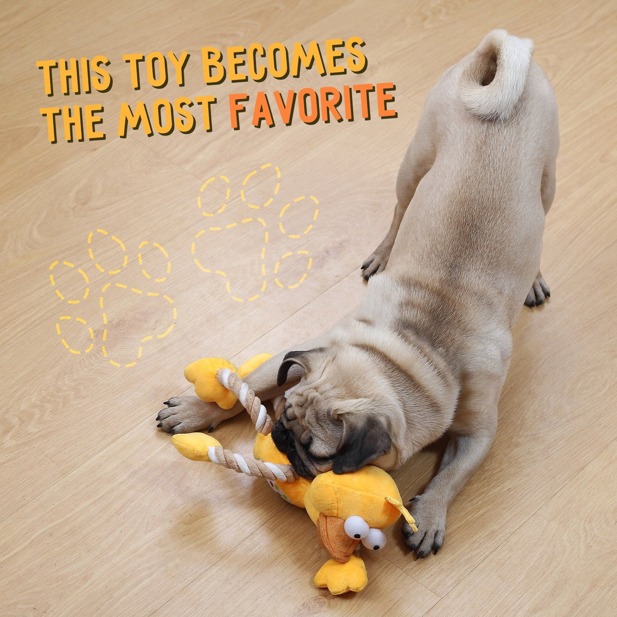 Dog Toys Squeaky Duck Durable Soft Plush Pet Toy Indestructible