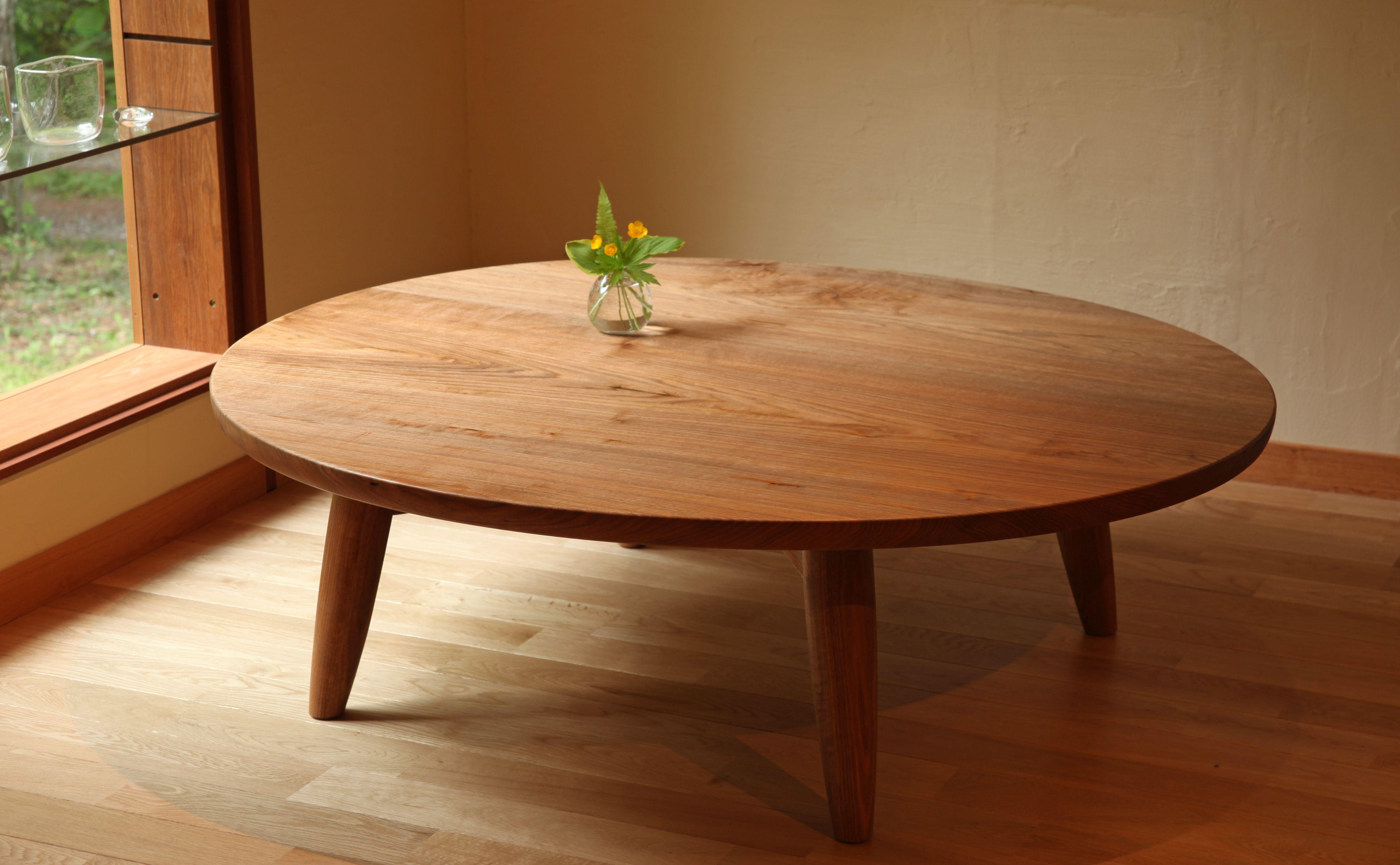 たまごローテーブル ローテーブル 丸い テーブル 座卓