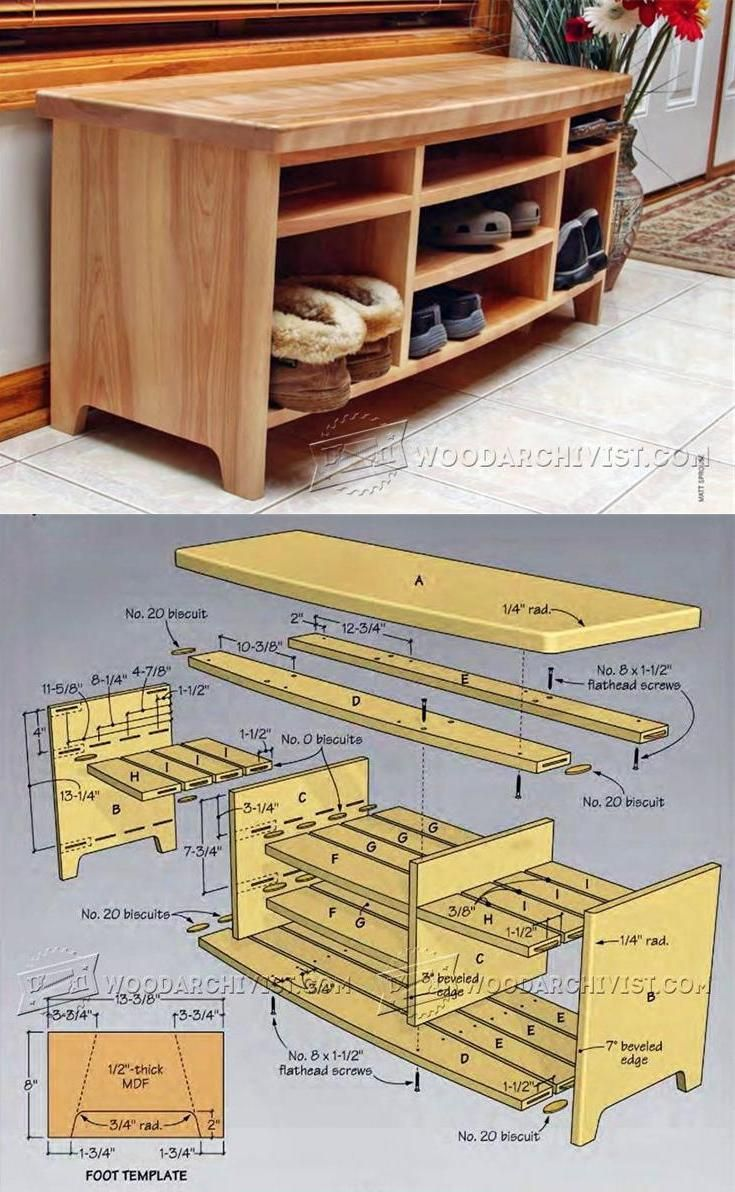 storage bench plans - furniture plans and projects | woodarchivist