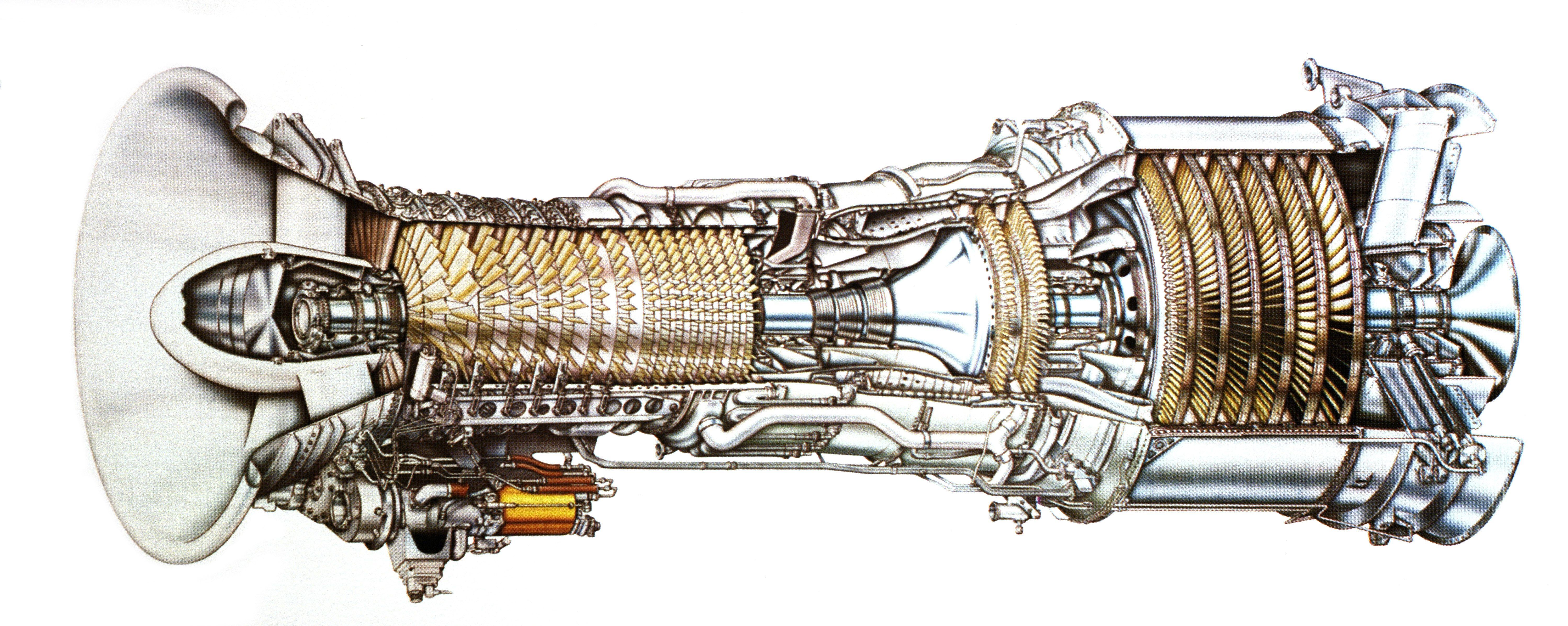 LM2500 Gas Turbine Cutaway   LM2500 Gas Turbine Engine