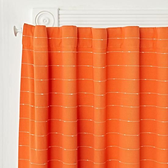 96 Orange Blackout Curtain