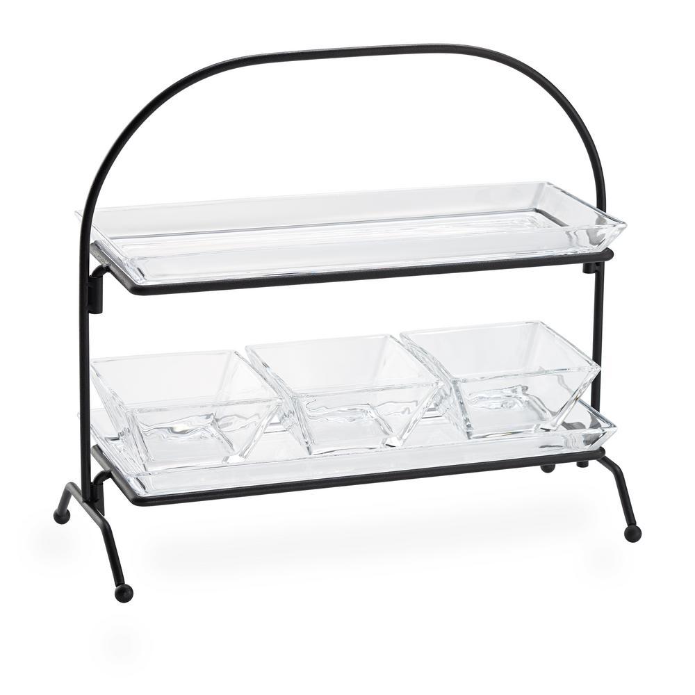 artland cortland 2 tier caddy server products glass tray tiered rh pinterest com