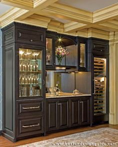 custom transitional bar cabinet designs - Google Search | Hall Bar ...