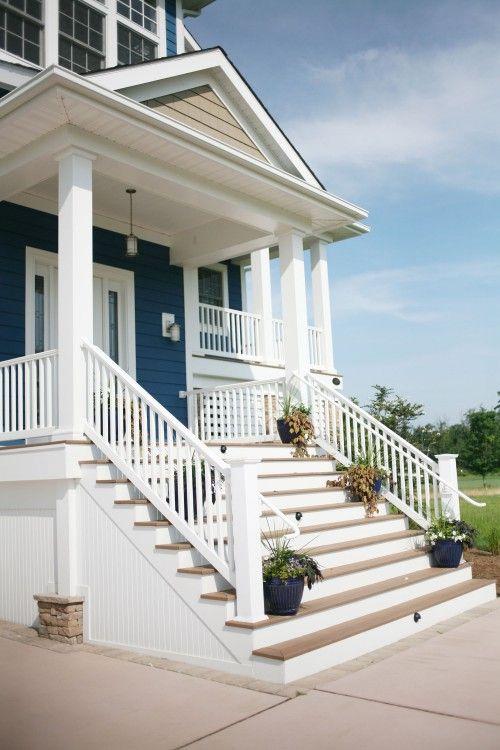 love the blue siding exterior inspiration porch front porch rh pinterest com