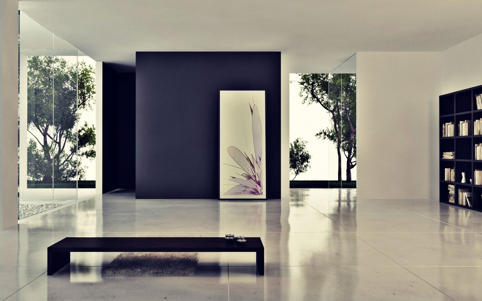 modern house interiors%0A      Houses Modern Glass House Myspace Wallpaper
