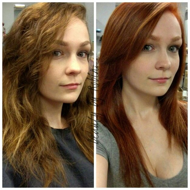 Brunette To Red Head