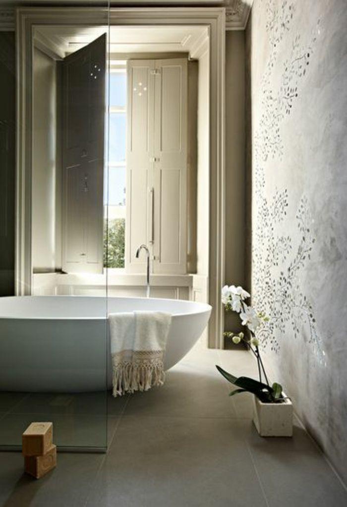 Beaucoup Didées En Photos Pour Une Salle De Bain Beige Sol En - Comment faire une salle de bain